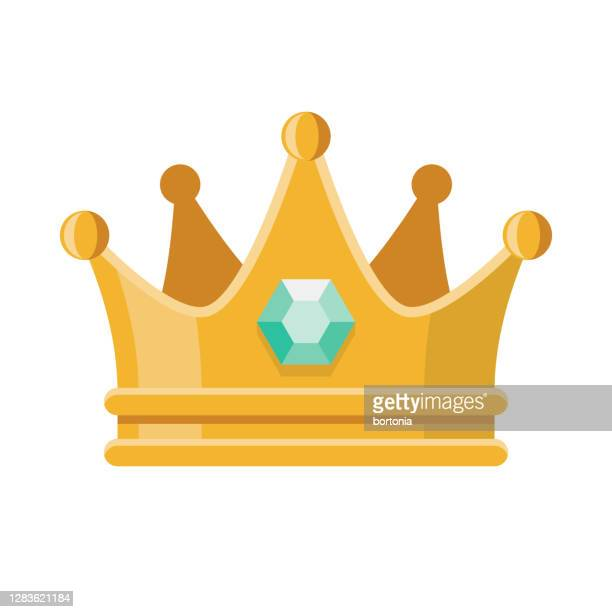 prom crown icon on transparent background - crown stock illustrations