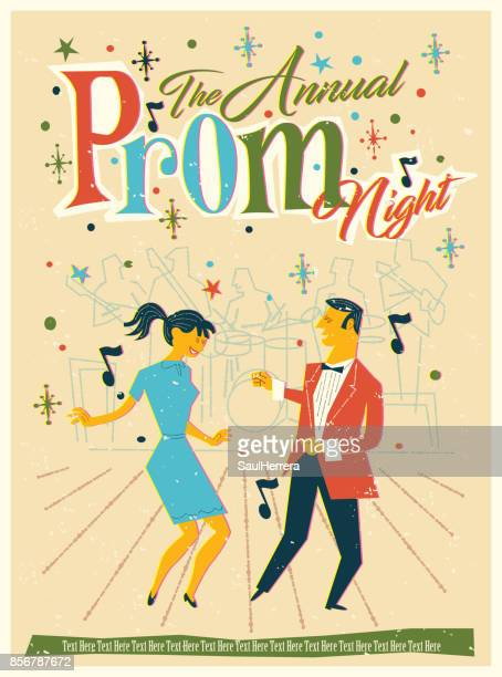 prom eve - high school prom stock illustrations