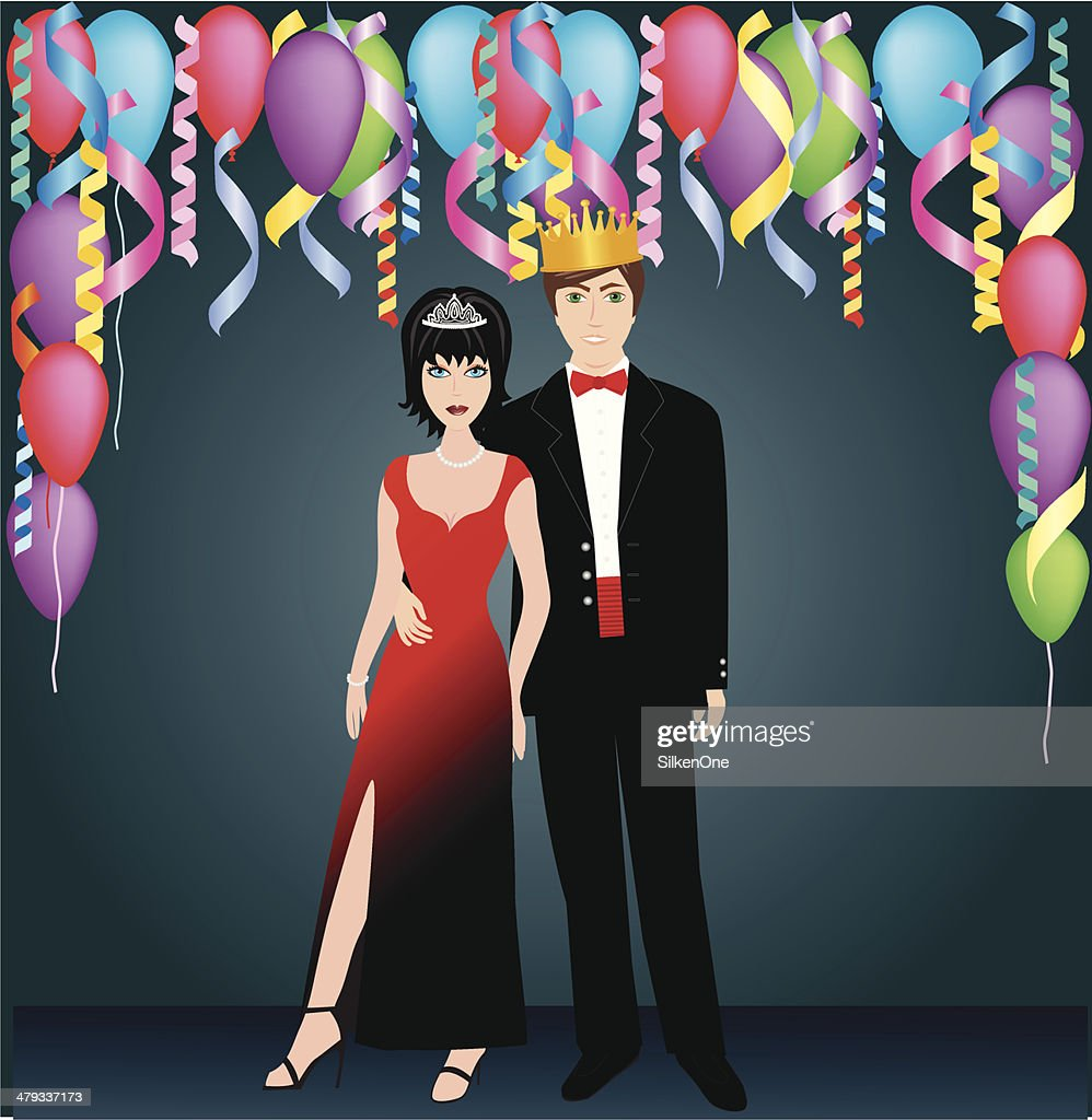 Prom Royalty : stock illustration