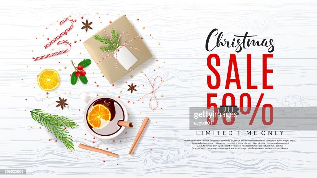 Promowebbanner Für Weihnachtsverkauf Vektorgrafik | Getty Images