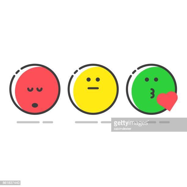 promoter score icons set - ignoring stock illustrations, clip art, cartoons, & icons