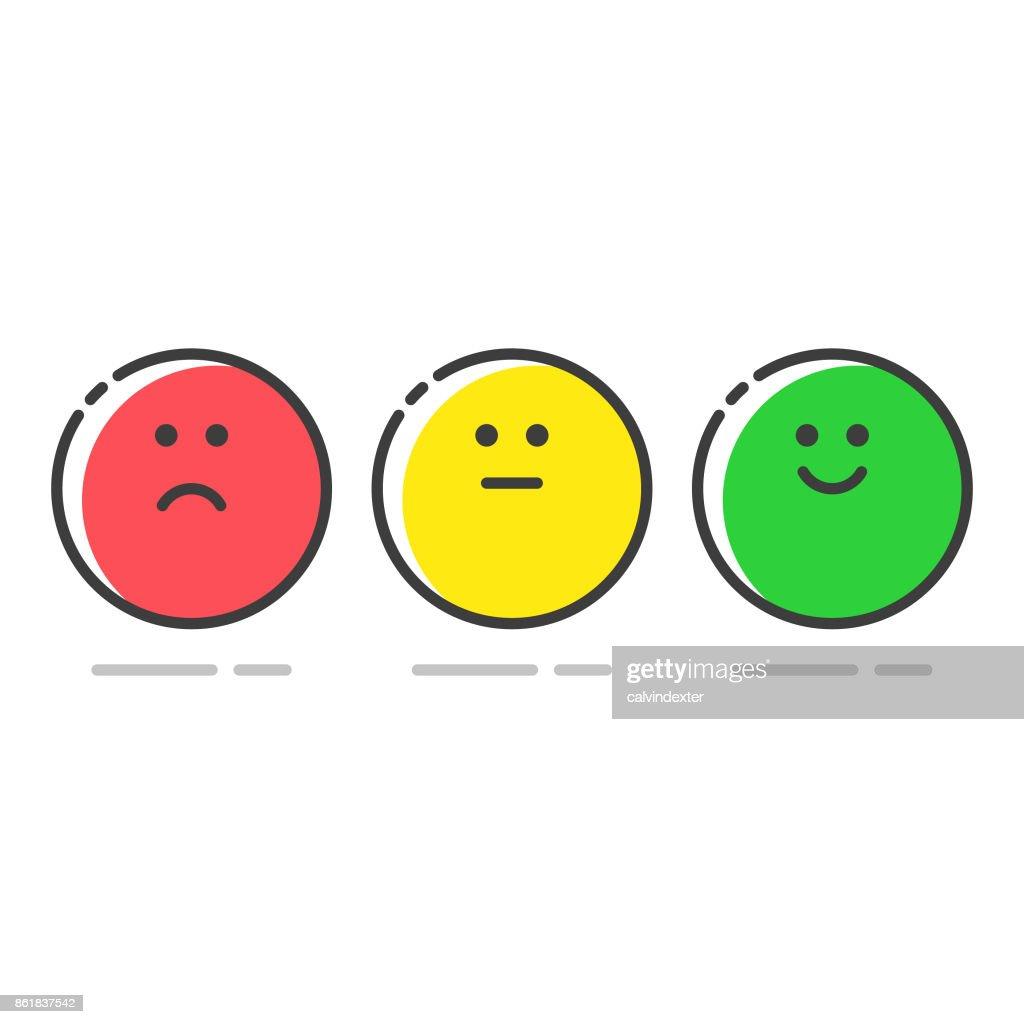 Promotor Score Icons set : Stock-Illustration
