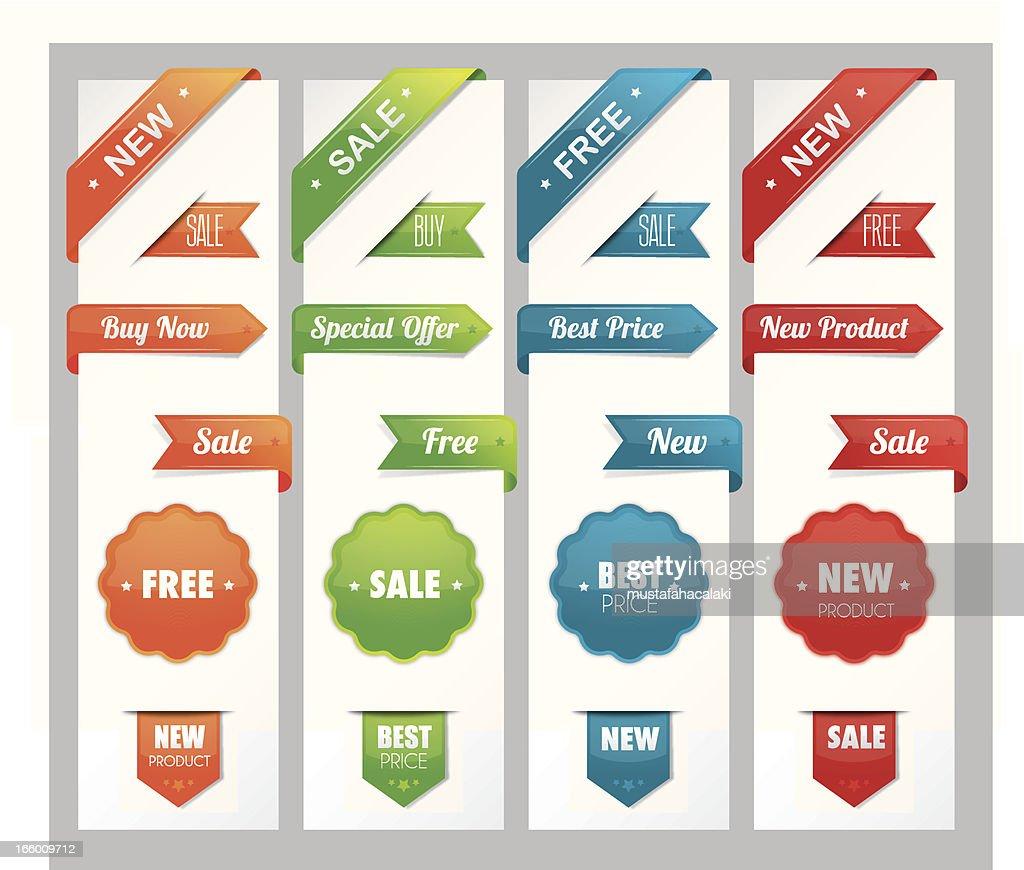 Promoting ribbons : stock illustration