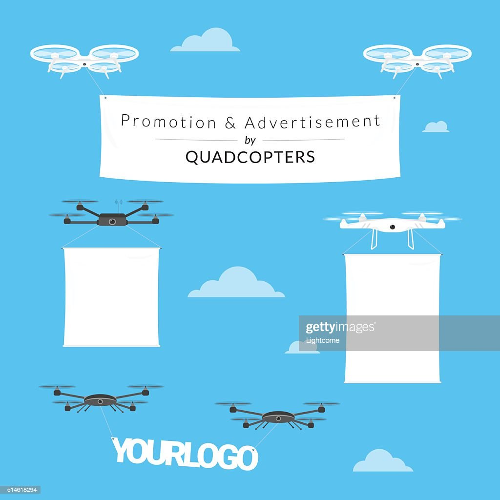Promotion and advertisement by quadcopters