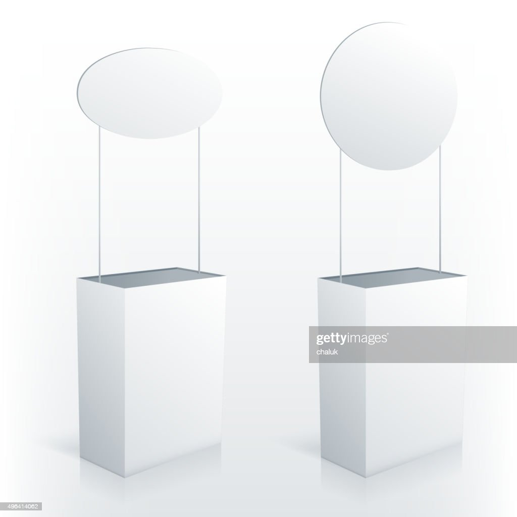 Promotion counter table with round topper