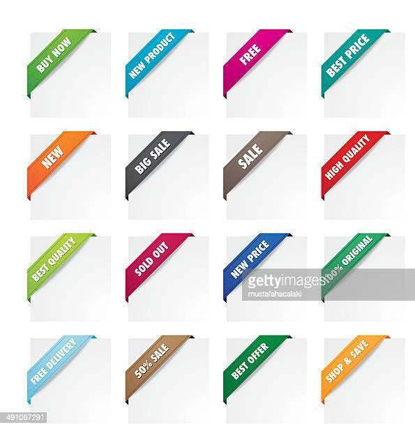 Promotion fabric corner ribbons