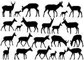 Pronghorn silhouettes