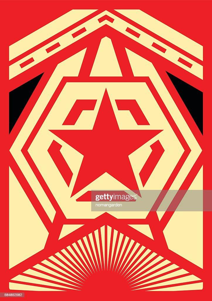 propaganda poster with modern design
