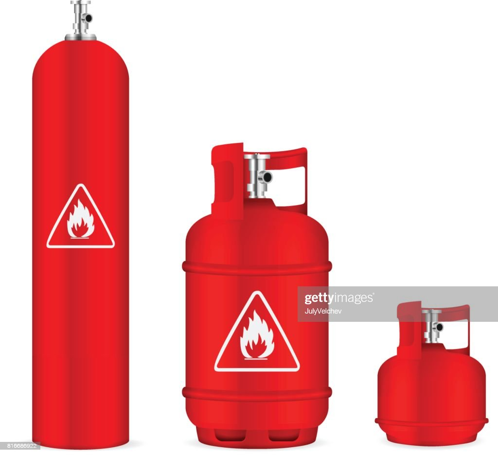 Propane gas cylinders set