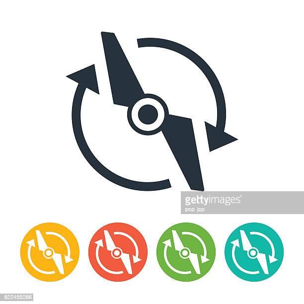 propeller drone icon - プロペラ点のイラスト素材/クリップアート素材/マンガ素材/アイコン素材