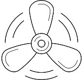 Propeller line icon