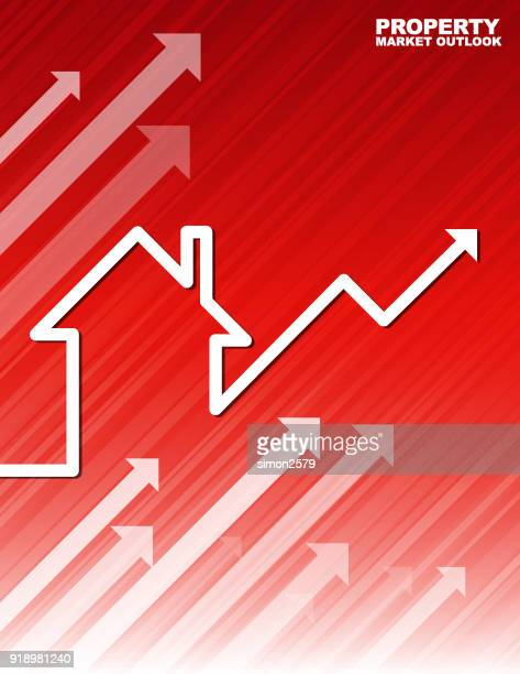 property outlook chart - interest rate stock illustrations