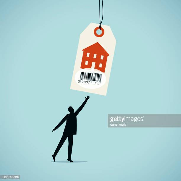 property prices illustration - consumerism stock illustrations