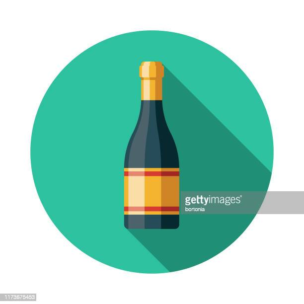 prosecco italian food icon - carbonated stock illustrations, clip art, cartoons, & icons