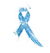 Prostate Cancer Awareness Ribbon.
