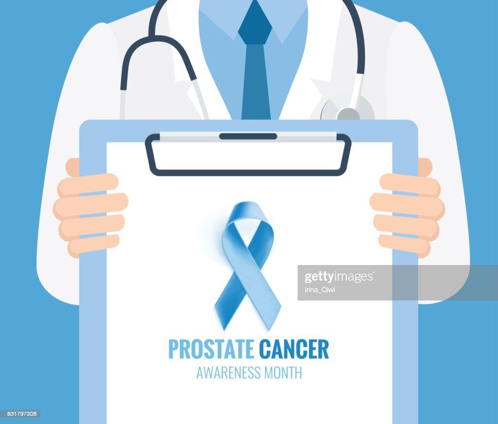 Prostate Cancer Ribbon Background.
