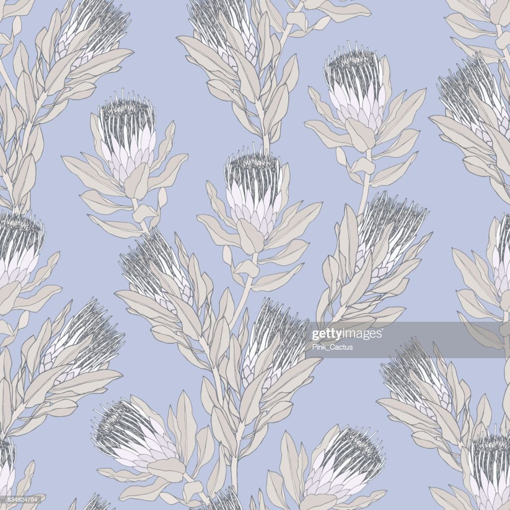 Protea Vector Pattern - Lilac
