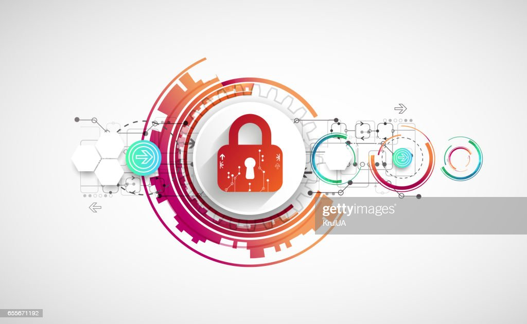 Protect mechanism, system privacy, vector illustration