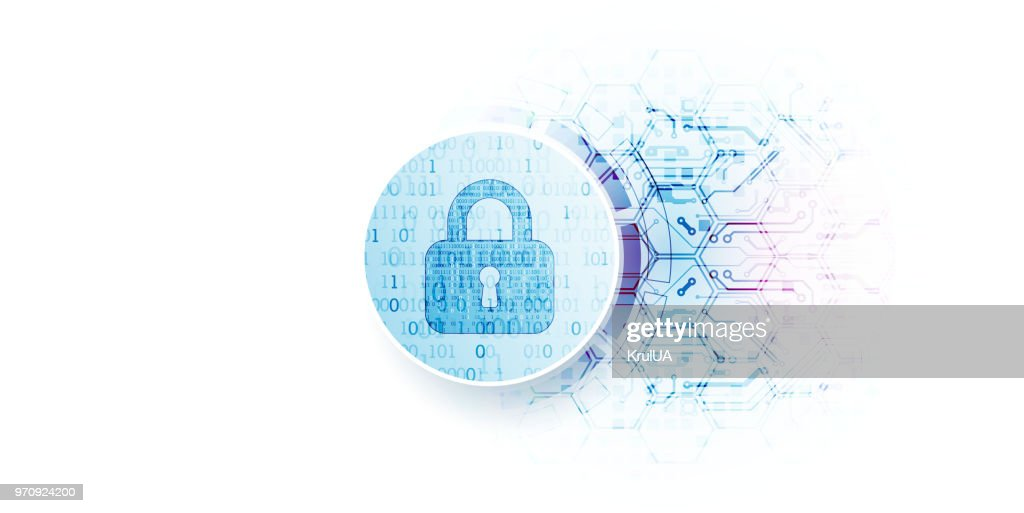 Protect mechanism, system privacy, vector illustration : stock illustration