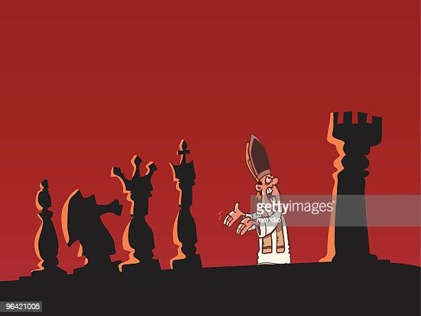protect the king! - religious dress stock illustrations, clip art, cartoons, & icons