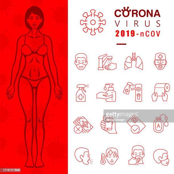 stockillustraties, clipart, cartoons en iconen met bescherm uzelf tegen het nieuwe coronavirus - corona zon