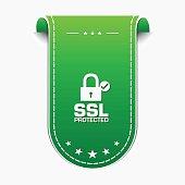 SSL Protected Green Vector Icon Design