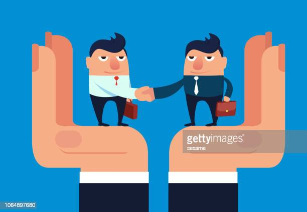 protected transaction - job interview stock illustrations, clip art, cartoons, & icons