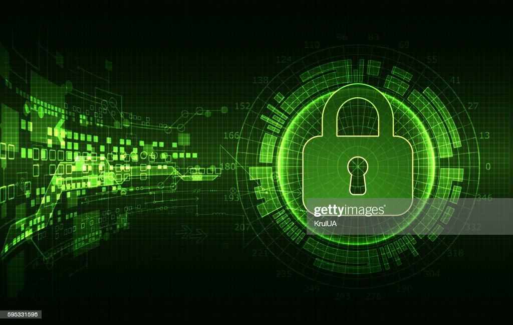 Protection concept of digital and technological.