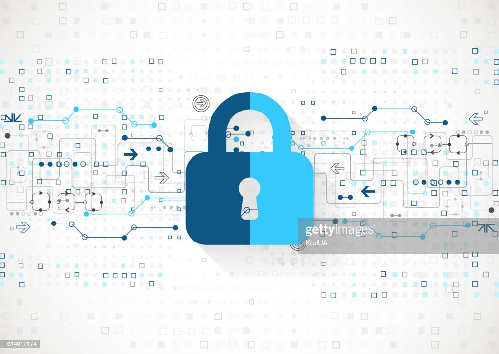 Protection concept. Protect mechanism, system privacy. : stock illustration