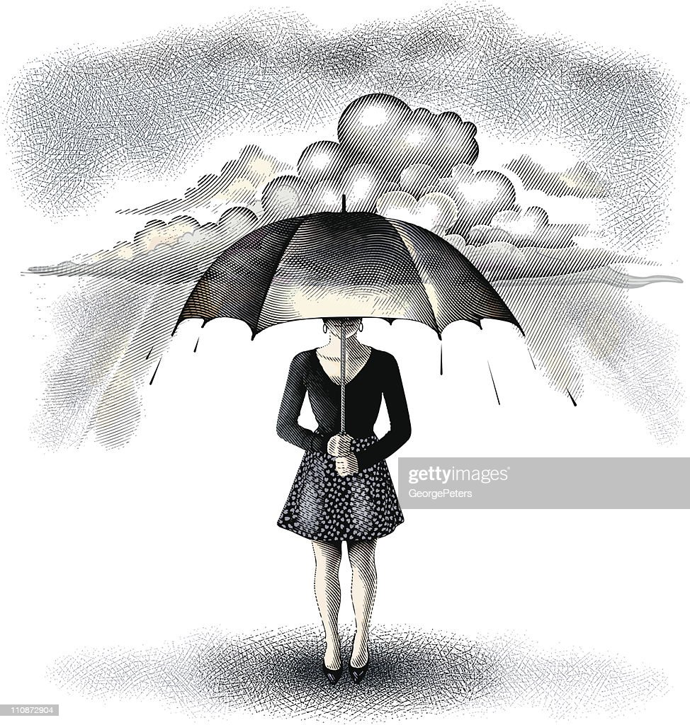 Protection From Storm : stock illustration