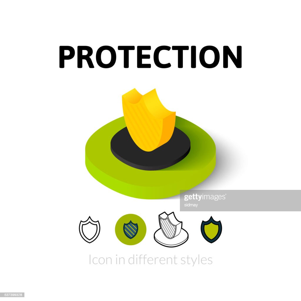 Protection icon in different style