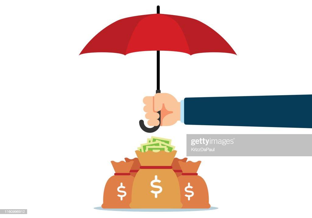 Protection Money : Stock Illustration