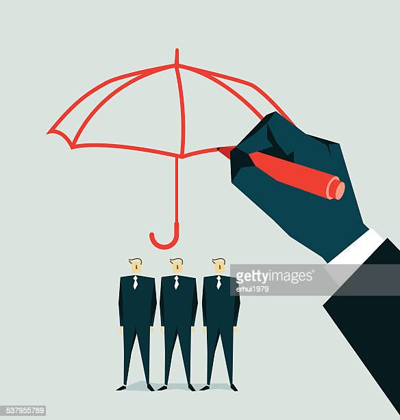 protection - insurance agent stock illustrations, clip art, cartoons, & icons