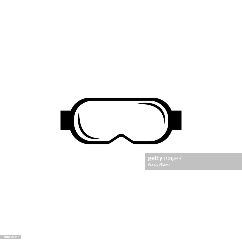 Protective goggles icon. Simple winter games icon. Can be used as web element, playing design icon