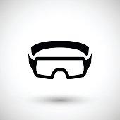 Protective goggles icon