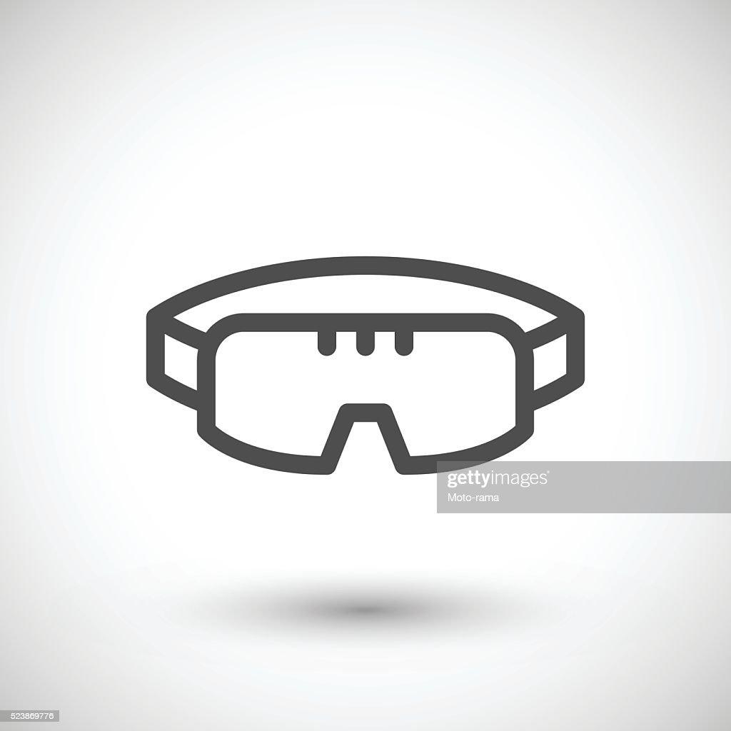 3fb674df6acd44 Ligne Icône Lunettes De Protection Clipart vectoriel   Getty Images