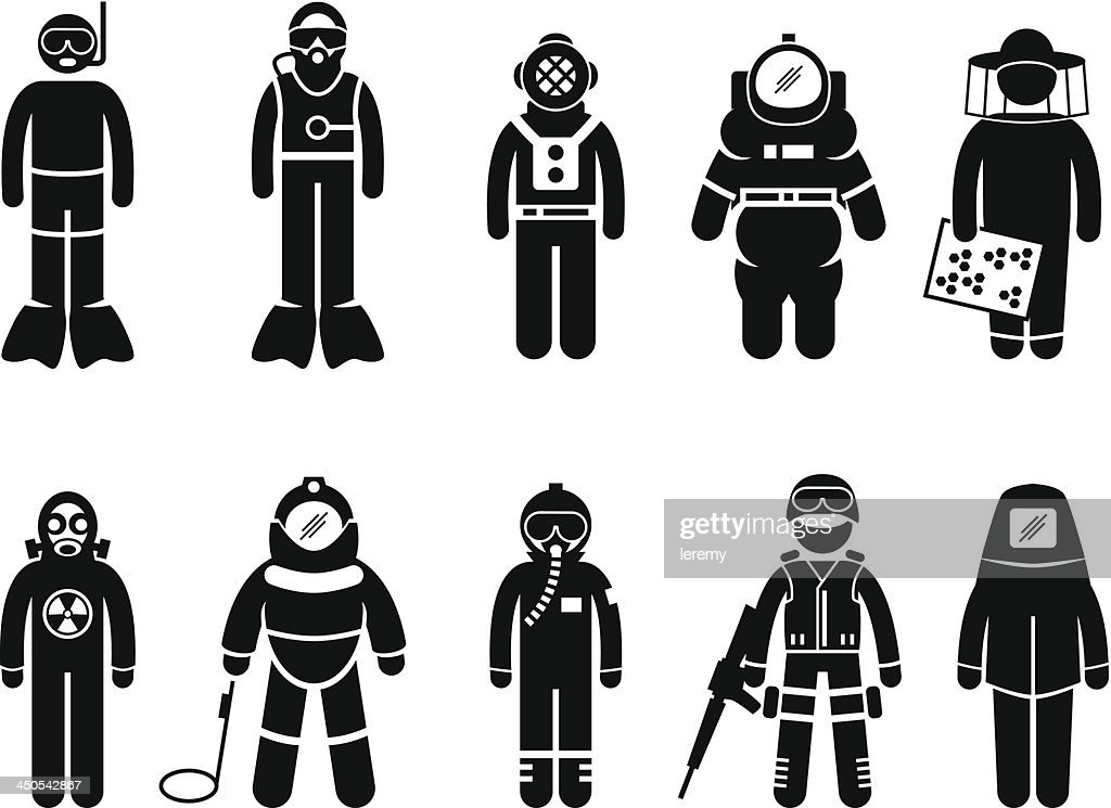 Protective Suit Gear Uniform Wear Pictogram