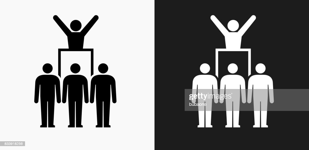 Protest And Leader Icon On Black And White Vector Backgrounds High Res Vector Graphic Getty Images
