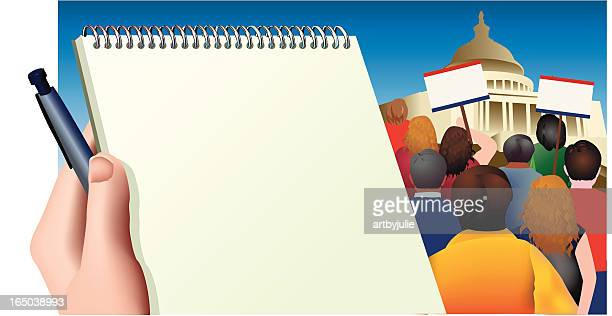 protest rally - protest stock illustrations, clip art, cartoons, & icons