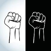 Protest, rebel vector revolution poste