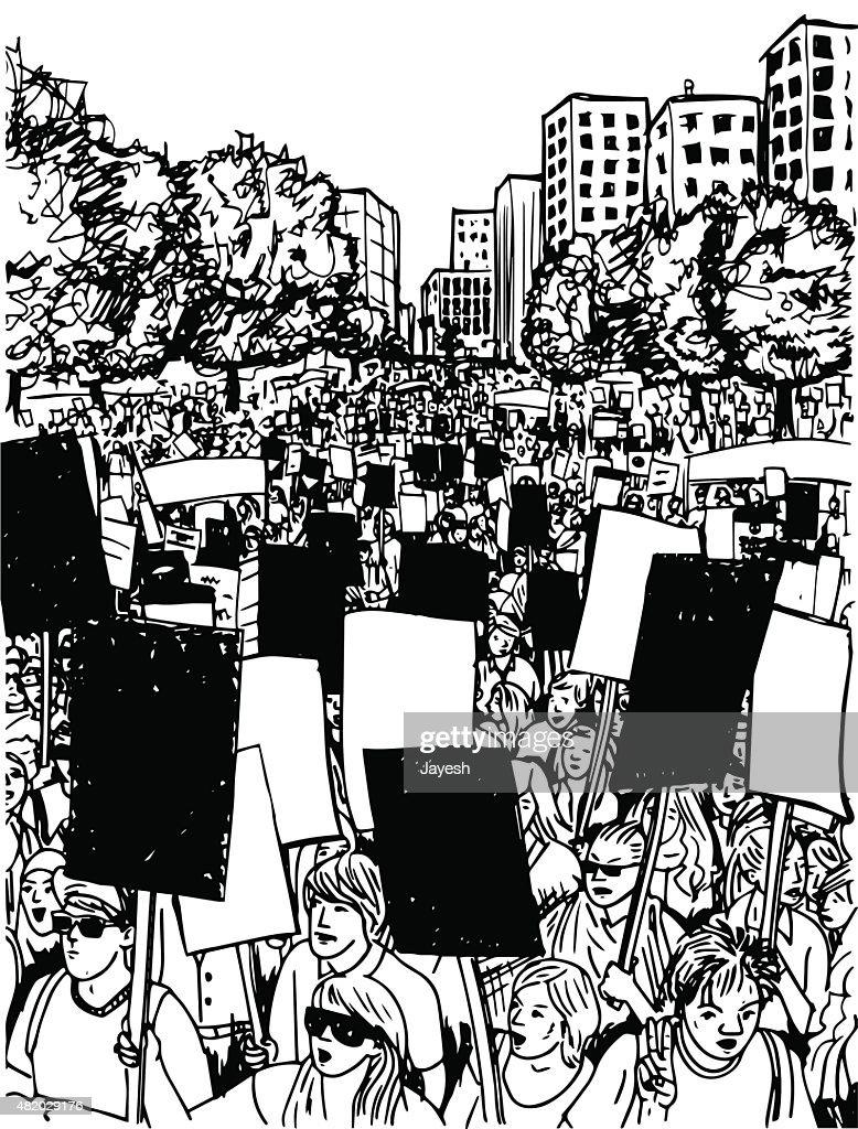 Protest : Vector Art
