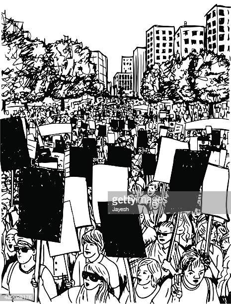 protest - protest stock illustrations