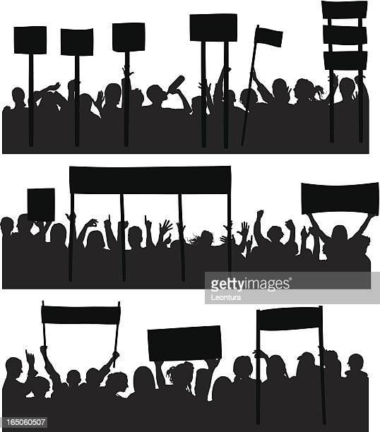 protesters - holding stock illustrations, clip art, cartoons, & icons