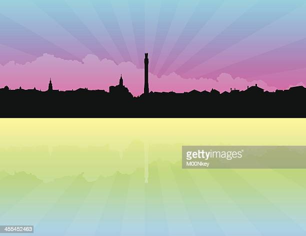 provincetown massachusetts skyline - provincetown stock illustrations