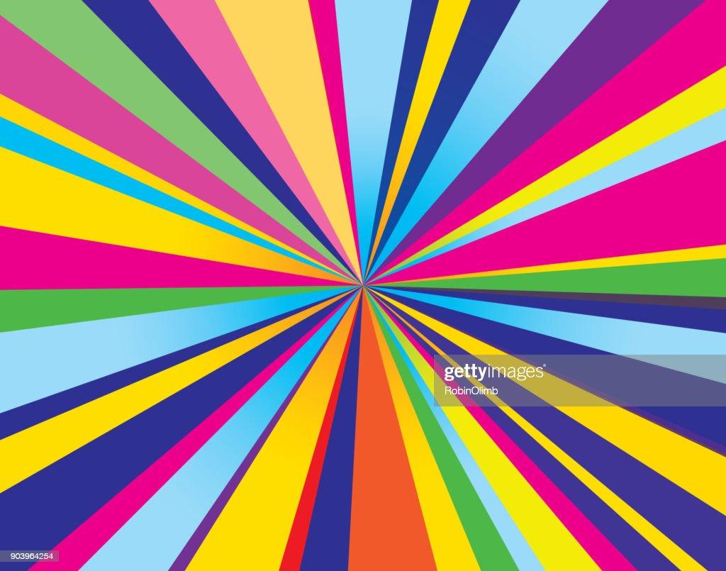 Psychedelic Burst Background : stock illustration