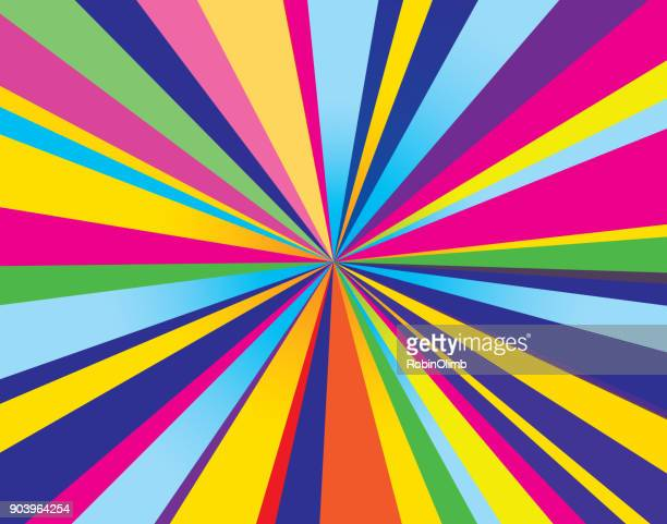 psychedelic burst background - rainbow stock illustrations, clip art, cartoons, & icons