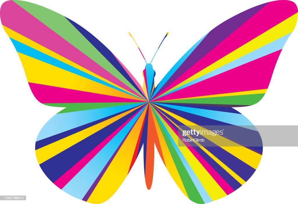 Psychedelic Burst Butterfly