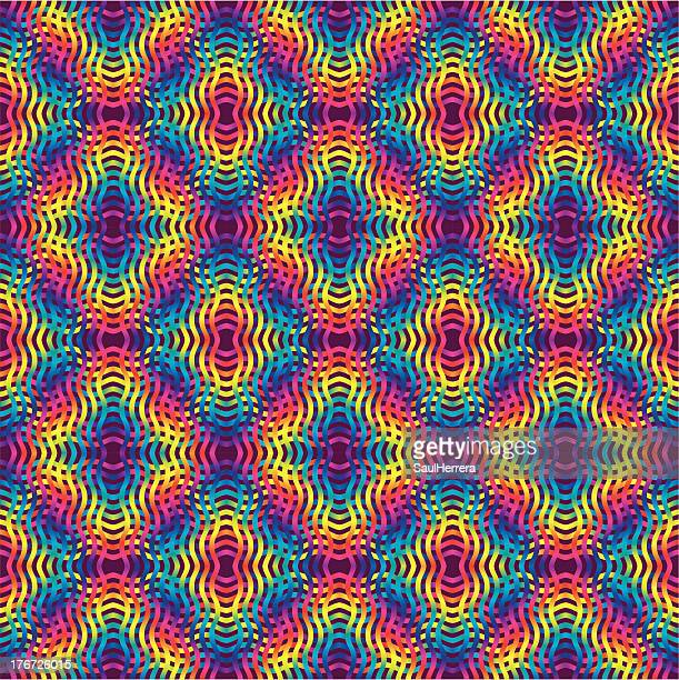 psychedelic colored background - latin american culture stock illustrations, clip art, cartoons, & icons