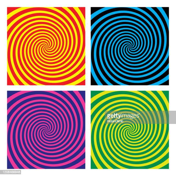psychedelic swirl backgrounds - hypnosis stock illustrations