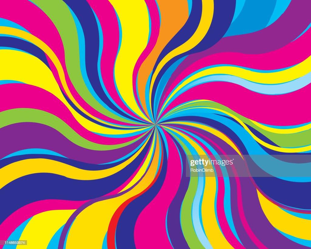 Sfondo twist psichedelico : Illustrazione stock